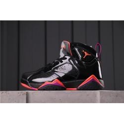 Air Jordan 7 Black Patent Leather Black Red 313358-006