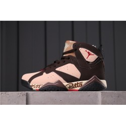 Patta x Air Jordan 7 Dark Brown Pink AT3375-200