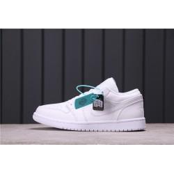 Air Jordan 1 Low All White 553558-111