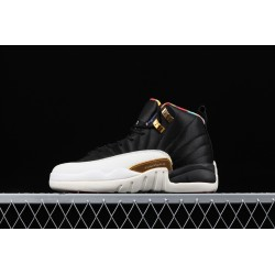 Air Jordan 12 Prm Black White Gold BQ6497-006