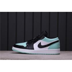 Air Jordan 1 Low Emerald Rise Green White Black 553558-117