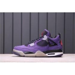 Travis Scott x Air Jordan 4 Purple Purple Black 308497-510