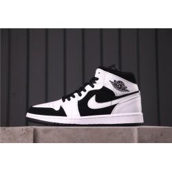 Air Jordan 1 Mid White/Black White Black 554724-113