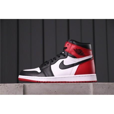 Air Jordan 1 Black Toe Black Red White 555088-125