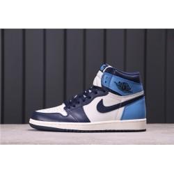 Air Jordan 1 High Obsidian Blue White 555088-140