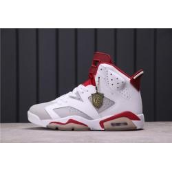 Air Jordan 6 Alternate White Red 384664-113