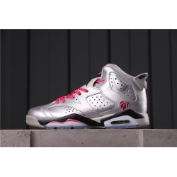 Air Jordan 6 GS VALENTINE'S DAY Silver Pink 543390-009